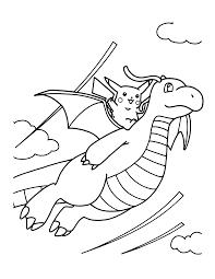 Pokemon Dragonite Kleurplaat