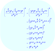exponents distributive property example using a combination of bases and exponents math