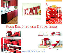 red kitchen decor and black cool barn decorating ideas