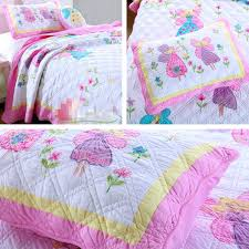 princess quilt free girls erfly fairy twin size quilting princess applique embroidery patchwork quilt bedspread