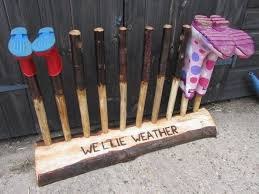welly boot rack outdoor decor ideas diy boot rack useful