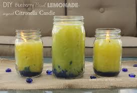 make your own blueberry basil lemonade citronella mason jar candles