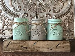 decorative jars mason canning jars in wood antique white tray centerpiece with 3 ball pint jar kitchen table decor distressed rustic flowers
