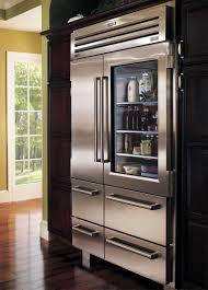 Glass Refrigerator Sub Zero Glass Door Refrigerator