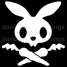 bunny skull and crossbones logos clip art freeuse library