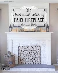 Build A Fake Fireplace Remodelaholic How To Build A Faux Fireplace And Mantel
