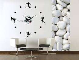Get Quotations  ACRYLIC material fashion football DIY wall clock home  decorative single clock modern design hours personalized creative