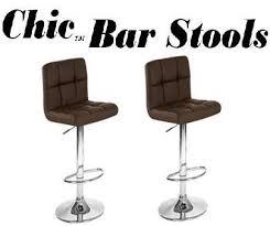 chic modern bar stools. Modren Chic Chic Modern Adjustable Synthetic U0026quotLeatheru0026quot Swivel Bar Stool  Inside Stools P
