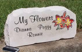 engraved garden stones. Engraved My Flowers Garden Stone Stones R