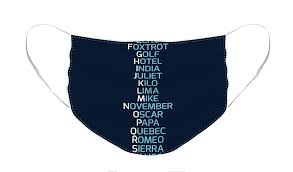 Over the phone or military radio). Phonetic Alphabet Navy Blue Face Mask For Sale By Zapista Ou