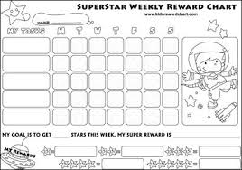 Free Downloadable Reward Charts Reward Chart Kids Kids
