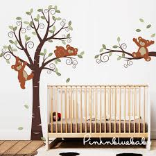 bears and swirly tree nursery wall d cor on teddy bear wall art for nursery with bears and swirly tree nursery wall d cor kids wall decals teddy