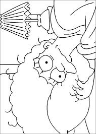 Homer Simpson Kleurplaat