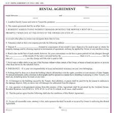 Standard Rental Agreement Template Standard Lease Landlord Tenant Agreement Template Washington State