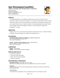 Resume Examples Career Perfect Logistics Resume Sample Hd Logistics