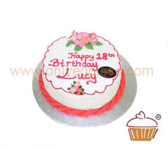 Iced Red Birthday Cake Special C214