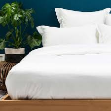 400tc luxury white duvet cover