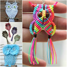 Free Macrame Patterns Amazing Wonderful DIY Cute Macrame Owls