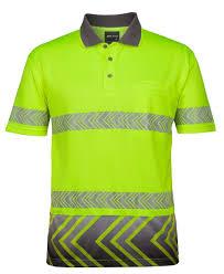 Hi Vis T Shirt Design Jbs Hi Vis S S Arrow Sub Polo With Segmented Tape 6has In