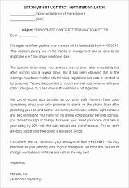 Sample Employment Separation Agreements Cool Employment Separation Notice Template Luxury Termination Employment