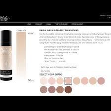 Bairly Sheer Color Chart Bairly Sheer Airbrush Spray On Foundation 4