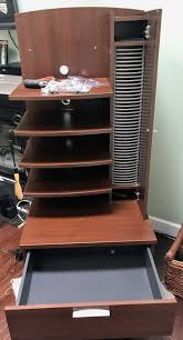 Stereo, DVD, Cable box cabinet