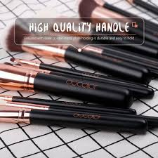 15 pieces rose gold makeup brush set