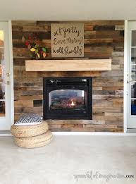 diy fireplace accent pallet wall via spoonfulofimagination com