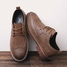 2018 autumn new men martens shoes brogue casual shoes men genuine leather shoes work business casual sneakers ping hungama
