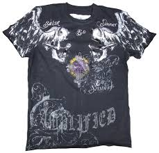 Designer Rock T Shirts Details About Rhinestone Amplified Saint Sinner Holly Skull Rock Star Designer Vip T Shirt