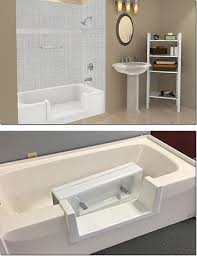 computer generated image of a tub cut out with white tile and a white bathtub