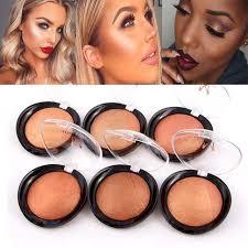 miss ross metallic bronzer blush palette face makeup cheek color baked blusher colorete professional paleta blush