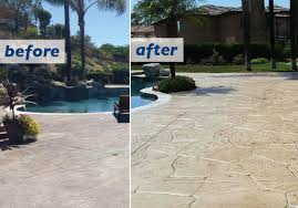 stained concrete patio before and after. Revamp Your Existing Stamped Concrete Don T Tear It Out Stained Patio Before And After