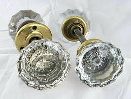 antique glass door knob identification knobs crystal privacy value vintage privac g23