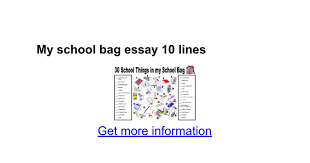 my school bag essay lines google docs