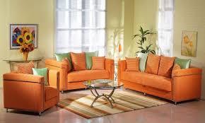 Contemporary Design Orange Living Room Furniture Marvellous