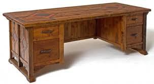 wood office desks. Endearing Custom Wood Office Furniture Rustic Desk Reclaimed Unique Desks