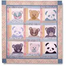 Small Picture Bear Patch Kids Quilt Pattern by Garden Trellis Designs at