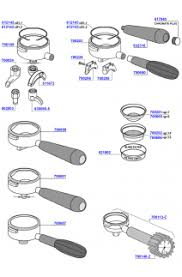 coffee machine parts. Exellent Parts Cimbali  Portafilters And Filter Baskets 1 Inside Coffee Machine Parts