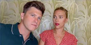 Colin Jost crashes Scarlett Johansson's ...