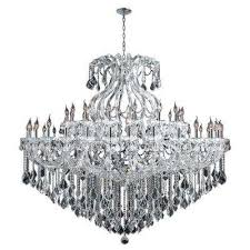 maria theresa collection 48 light polished chrome crystal chandelier