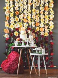 Paper Flower Wedding Backdrops Diy Flower Wedding Backdrop Tutorial With Crepe Blooms