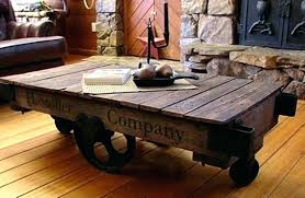 cart coffee table side industrial for ox uk diy rail