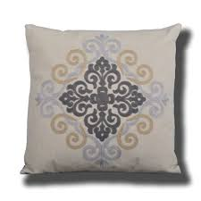 ... Lizal Embroidered Decorative Pillows, Light Blue / Grey / Tan, Single  or Sets ...