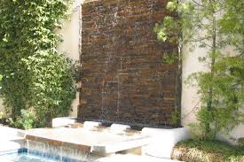 ideas of modern outdoor wall fountains that will make your yard more