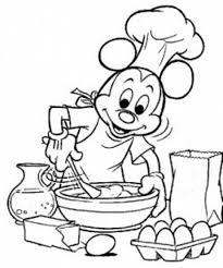 Kleurplaat Mickey Mouse Bakt Koekjes Color Disney Kleurplaten