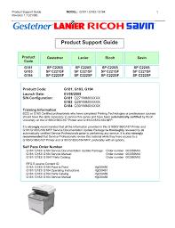 Ricoh G183 Service Manual Manualzz Com