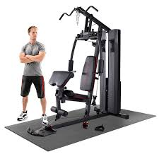 Marcy Mkm 81010 90kg 198lbs Stack Home Gym System With Floor Matting Costco Uk