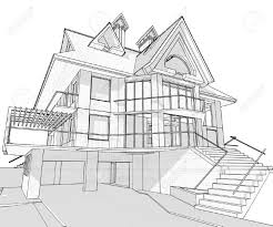 architecture houses sketch. Plain Sketch House Vector Technical Draw  Buy This Stock On Shutterstock U0026 Find  Other Images For Architecture Houses Sketch