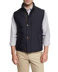 Peter millar Milano Quilted Button/zip Vest in Black for Men | Lyst & Gallery Adamdwight.com